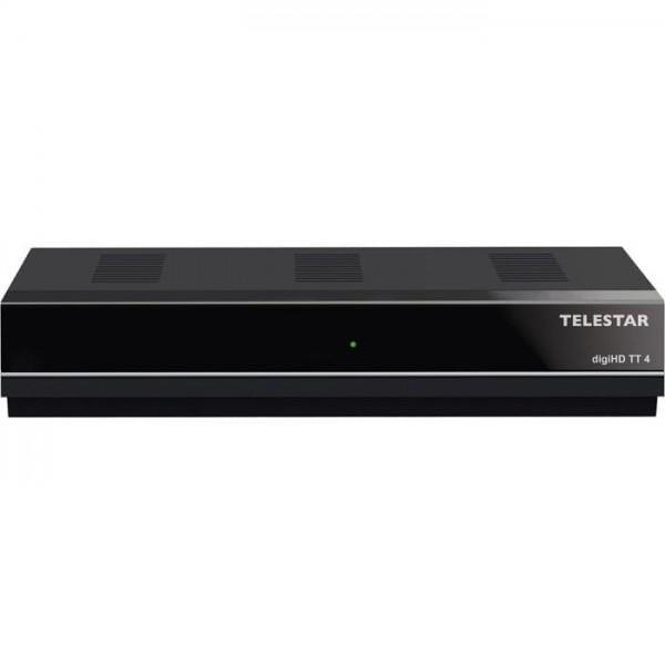 TELESTAR digiHD TT4 DVB-T2 HD Receiver (H.265/HEVC Standard, HDTV, HDMI, SCART, LAN, USB 2.0, Internetradio) schwarz(Zertifiziert und Generalüberholt) Bild1