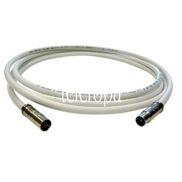 AKB 250 L BK-Anschlusskabel (Koaxialverlängerungskabel, 90° IEC-Stecker, 90° IEC-Buchse, Class A, LT