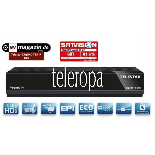 digiHD TT 5 IR DVB-T2 HD inkl. 3 Monate freenet TV¹ gebraucht / generalüberholt
