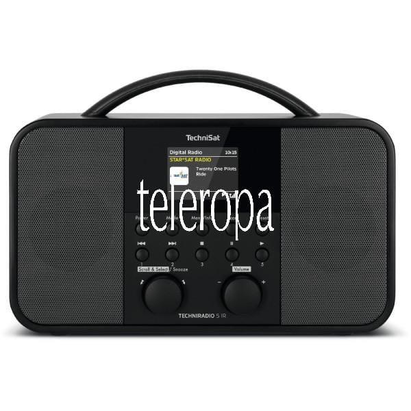 TECHNIRADIO 5 IR (Radio, Internetradio, TFT-Farbdisplay, DAB+, Radiowecker, UKW / RDS, AUX)