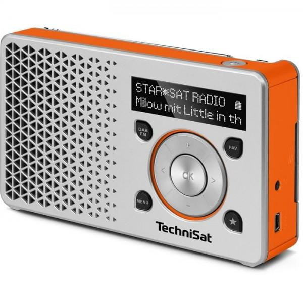 DIGITRADIO 1 DAB+ Radio silber/orange Bild 1