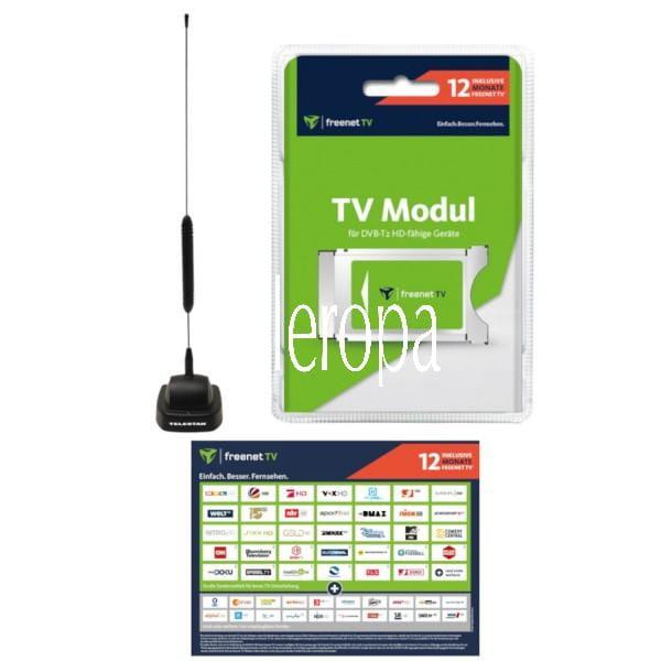 CI+ Modul mit 12 Monate Guthaben¹ & DVB-T2 HD Antenne STARFLEX T4