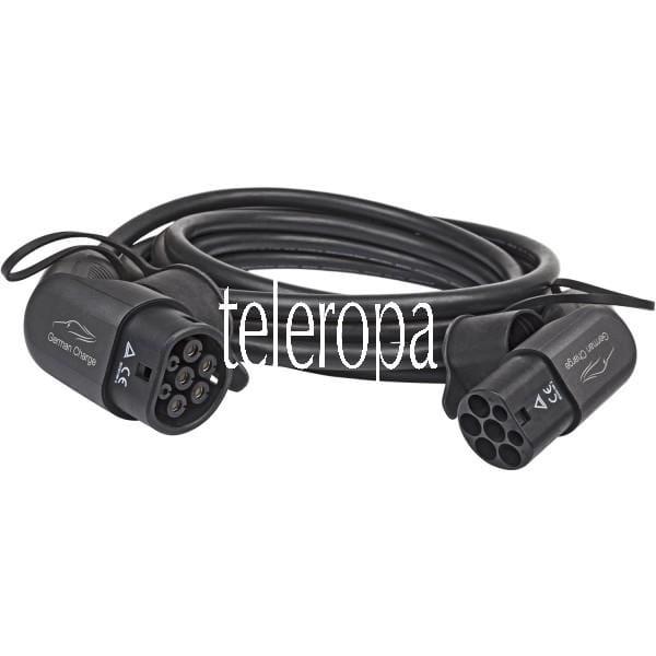 Komfort-Ladekabel für Elektroautos Typ 2 (Typ 2 Stecker gemäß IEC 62196-2, 3 phasig 32A, bis 22kW La