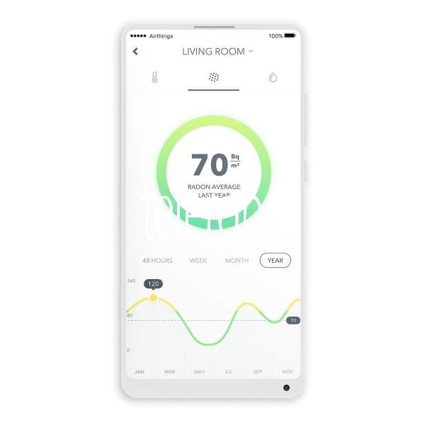 Wave 2. Generation Radon-Detektor mit Appsteuerung Messgerät und Luftqualitätsmonitor