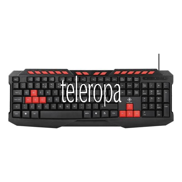 Gaming Tastatur (orange LED, Anti-Ghosting, USB, UK Layout)