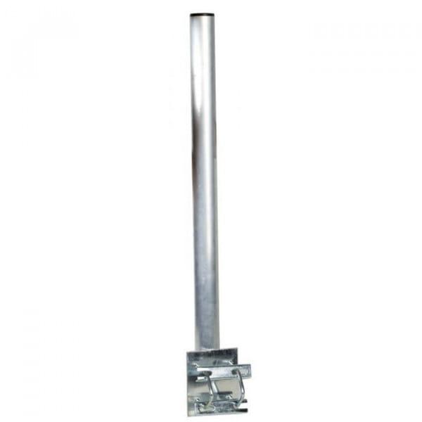 Antennenmastrohr mit Doppelschelle, 80cm