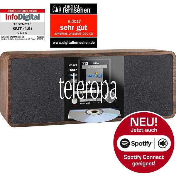 DABMAN i200 CD Internet & DAB+ Stereo Radio, Spotify Connect