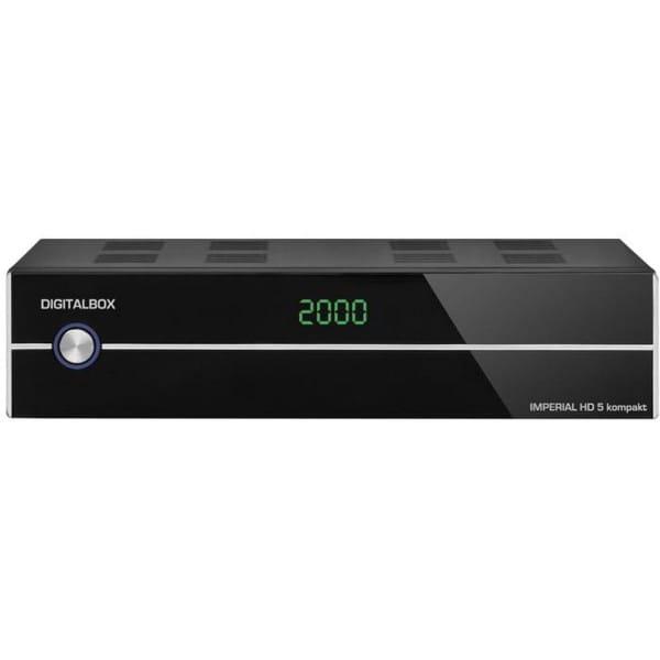 IMPERIAL HD 5 kompakt HDTV-Satelliten-Receiver (Display, HDMI, Audio-Video-Cinch, USB 2.0, Mediaplayer) schwarz (Zertifiziert und Generalüberholt) Bild1
